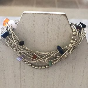 Jewelry - Multi-Strand Sterling Silver and Gemstone Bracelet